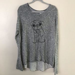"Bethany Mota ""Pug Life"" graphic knit sweater"